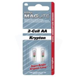 Mag-Lite Reservelampjes Zaklamp 2-Cell AA Krypton - nieuw in verpakking