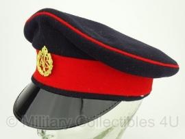 Britse visor cap ATS . Donkerblauw met rode rand - maat 54 - origineel