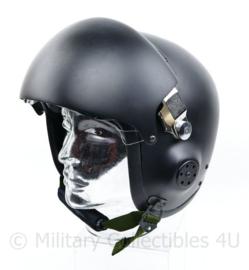 Mich piloten helm ZWART replica - dubbel visier Smoke en helder - maat Medium/Large