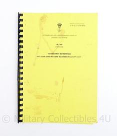 Koninklijke Marine Nr 419 voorschrift betreffende het lezen van militaire kaarten en luchtfoto's