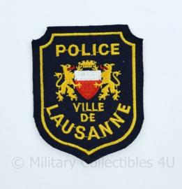 Zwitserse Police Ville de Lausanne embleem - 9 x 7 cm -  origineel