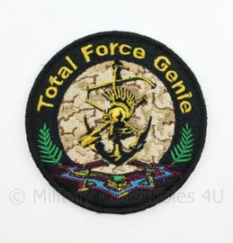 Defensie Total Force Genie embleem - met klittenband - diameter 9 cm