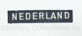 MVO KLU Luchtmacht straatnaam Nederland korps onderscheidingsteken nederland enkel - 10,5 x 2 cm - origineel
