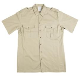 Koninklijke Marine TROPENTENUE & Korps Mariniers Veldtenue (Tenue 9). Dik Khaki Overhemd korte mouw  (niet DT) - maat 39, 44, 45, 47 of 48 cm.(hals) - origineel