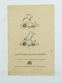 Document hamsteren april 1940 vereniging voor nationale veiligheid -13,5x21x0,1cm -origineel