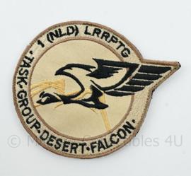 1NLD LRRPTG Task Group Desert Falcon embleem - met klittenband - diameter 9 cm
