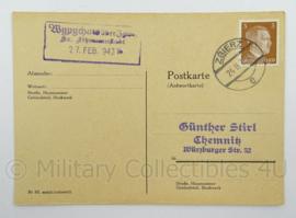WO2 Duitse postkarte 1943 - Zgierz - afmeting 15 x 10 cm - origineel