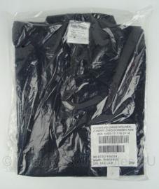 Brandweer kazerne tenue overhemd - lange mouw - donker blauw - maat 7090/1015 - nieuw in de verpakking - origineel