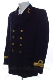 KM Koninklijke Marine uniform jas - Antiek ! - donkerblauw - met rang LTZ2OC - 2 rijen knopen - maat Small - origineel