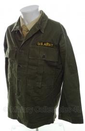 US hbt jas Jackets Herringbone Twill  - size large - origineel vietnam oorlog
