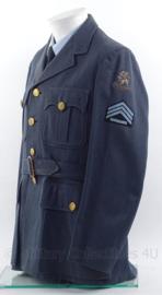 """KLu Koninklijke Luchtmacht DT uniform jas - rang """"sergeant der 1ste klasse"""" - jaren 60 - maat 48 - origineel"""