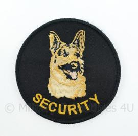 Security embleem - met klittenband - diameter 9 cm