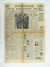 News Chronicle krant - 2 May 1945 - origineel