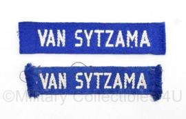 MVO straatnaam PAAR van Sytzama  - 10 x 2 cm origineel