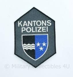Zwitserse Kantons Polizei embleem - 11,5 x 7,5 cm - origineel