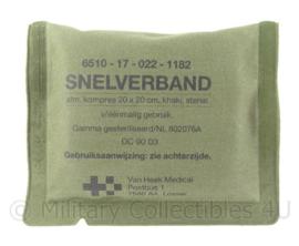 KL Nederlandse leger Snelverband 20 x 20 cm - met NSN nummer - ONGEOPEND - origineel