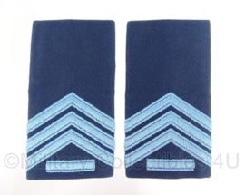 """KLu Luchtmacht schouder epauletten met rang """"sergeant der 1ste klasse"""" - origineel"""