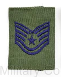 USAF US AIRFORCE GVT epaulet voor de borst van de Goretex jas -  rang Technical Sergeant - per stuk - 5,5 x 4 cm -  origineel