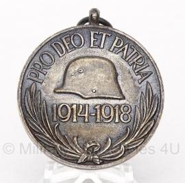"""Belgische """"Pro deo et patria 1914-1918"""" gouden medaille - Origineel"""