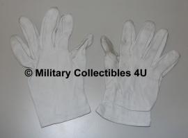 Handschoenen parade wit leer -  meerdere maten - origineel