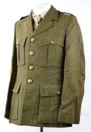 DKG en MVO zeldzaam lang model uniform jas grof wol 1951 - TOPSTAAT - maat 46 - origineel