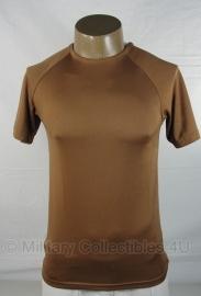 Landmacht shirt bruin , mannen vochtregulerend  warm weer - Small, 3xl of 4xl  - NIEUW IN DE VERPAKKING - origineel