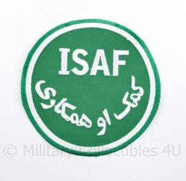 Zeldzaam groot model ISAF embleem - 12 cm diameter - veel gebruikt op vlaggen - origineel