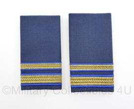 Koninklijke Luchtmacht GLT officiers epauletten paar - vorig model - Rang 1e Luitenant - 10 x 5 cm - origineel