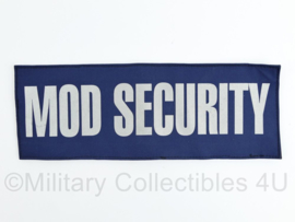 Britse Ministry of Defence Security MOD Security rugstrook - met klittenband - 10 x 28 cm - NIEUW - origineel