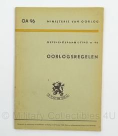 MVO Oefeningsaanwijzing Oorlogsregelen nr. 96 - 1948 - afmeting 15 x 22 cm - origineel