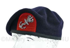Korps Mariniers baret met origineel insigne - vlootpersoneel logistieke dienst - maat 55  - origineel