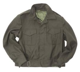 US Officer Style ike jas donkergroen