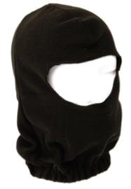 Balaclava Fleece open - zwart