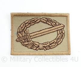 Defensie Gevechtsinsigne Desert - zeldzaam - 6 x 4,5 cm - origineel