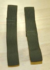 Broek elastiek - blousing band  groen - 1 paar