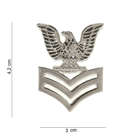 US Navy USN Petty Officer First class  CAP Insignia metaal - 4,2 x 3 cm