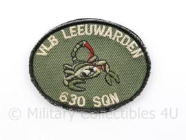 KLU Luchtmacht VLB Vliegbasis Leeuwarden 630 Squadron borst embleem - met klittenband - - origineel