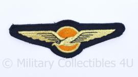 KLU Koninklijke Luchtmacht borst wing - 11 x 4 cm - origineel