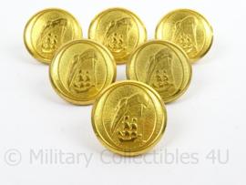 Scheepvaart Knoop Waterbury & Co Conneticut - goudkleurig - doorsnede 2,1 cm - prijs per stuk - origineel