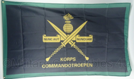 KL Landmacht KCT Korps Commando Troepen vlag - polyesther - afmeting 90 x 150 cm - nieuw gemaakt