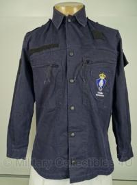 KMAR Marechaussee uniform jas basis - donkerblauw - MET insignes - gedragen - 6080/9500   - origineel
