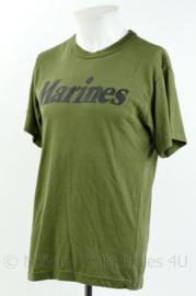 Korps Mariniers T-shirt met korte mouw - merk Rothco - Marines - groen - maat Medium - gedragen - origineel