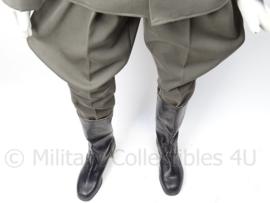 Hoge officiers laarzen - zwart leer - maat 29 = 44 - origineel