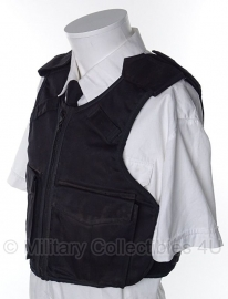 Britse politie kogel- en steekwerend vest hoes- (zonder inhoud) - model met 2 tassen - maat SMALL - origineel