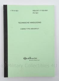 KL Landmacht Technische Handleiding Cabine type 4SE425PLA1 - TH9-1621 - afmeting 21 x 15 cm - origineel