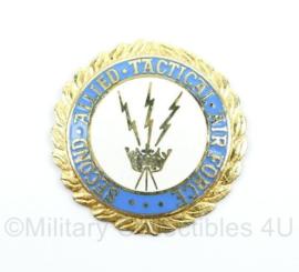 US Air Force second allied tactical speld zonder pin achterzijde - diameter 34,96 cm - origineel