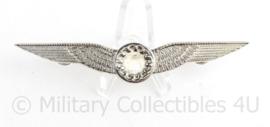 Defensie borst wing Boordvliegproefkundige zilverkleurig -10 x 2 cm -  origineel