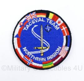 NATO Taceval Team Northern Region  - met klittenband - diameter 8 cm - origineel