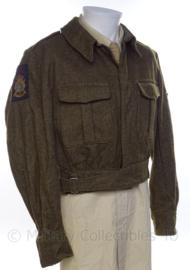 """KM Koninklijke Marine, Korps Mariniers uniform jasje rang """"marinier der tweede klasse"""" - jaren 50 - maat 53 - origineel"""
