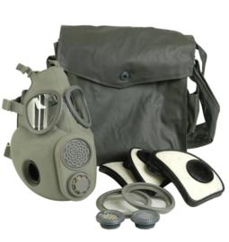 Assault gasmasker in tas - met drinkslang - ongebruikt en geseald - origineel leger